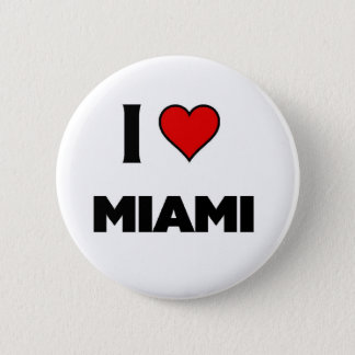 I love Miami Pinback Button