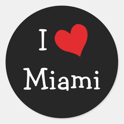 I Love Miami Round Sticker