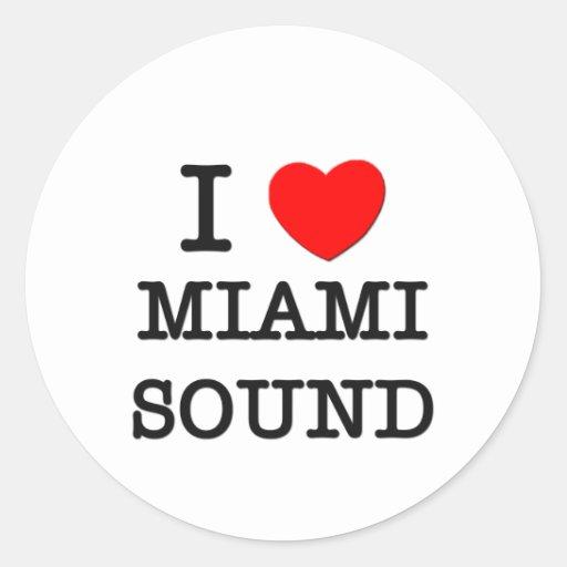 I Love Miami Sound Stickers