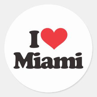 I Love Miami Classic Round Sticker