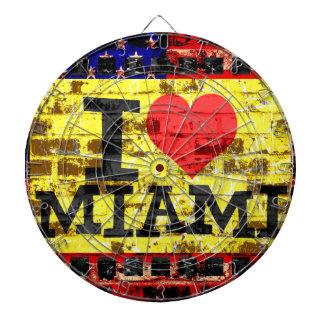 I love Miami - Vintage Miami Florida Dartboard