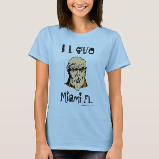 i love miami zombie ladies T-Shirt
