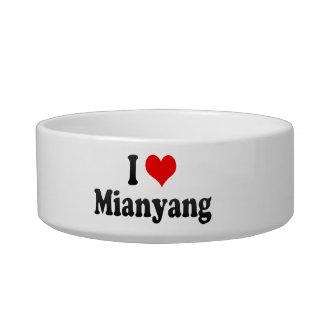 I Love Mianyang, China Cat Food Bowl
