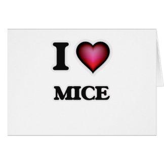 I Love Mice Card