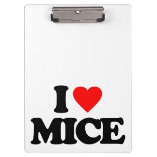 I LOVE MICE CLIPBOARD