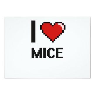 I love Mice Digital Design 5x7 Paper Invitation Card
