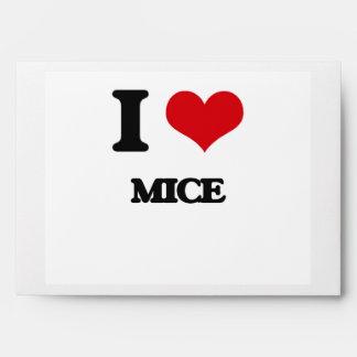 I love Mice Envelopes