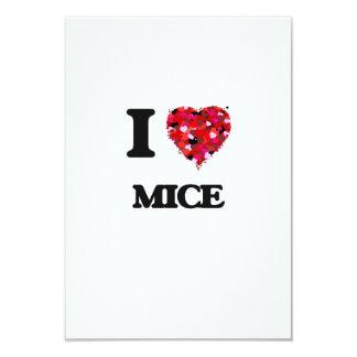 I love Mice 3.5x5 Paper Invitation Card