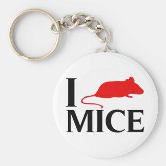 I Love Mice Keychains