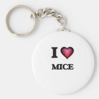 I Love Mice Keychain
