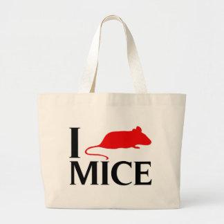 I Love Mice Large Tote Bag