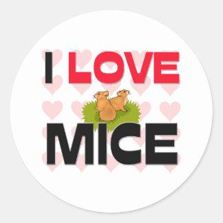 I Love Mice Sticker