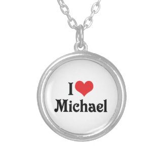 I Love Michael Silver Plated Necklace