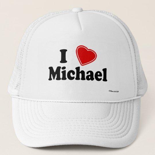 I Love Michael Trucker Hat