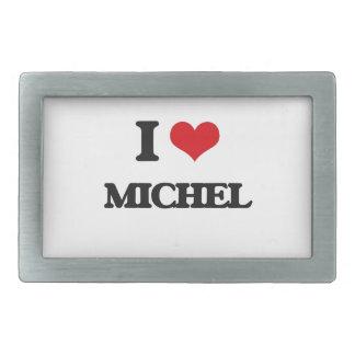 I Love Michel Belt Buckles