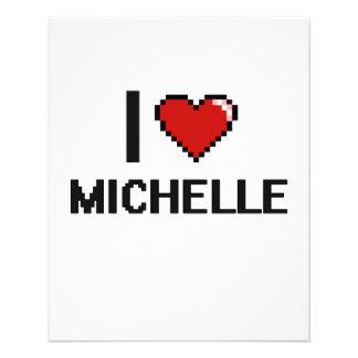 """I Love Michelle Digital Retro Design 4.5"""" X 5.6"""" Flyer"""