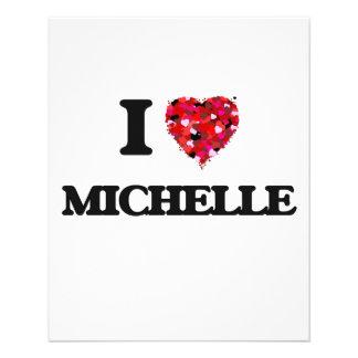"I Love Michelle 4.5"" X 5.6"" Flyer"