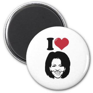 I Love Michelle Obama 2 Inch Round Magnet