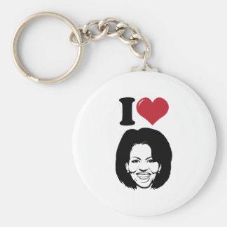 I Love Michelle Obama Basic Round Button Keychain