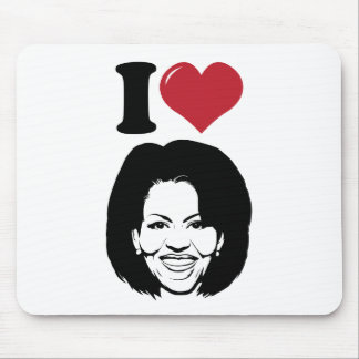 I Love Michelle Obama Mouse Pad