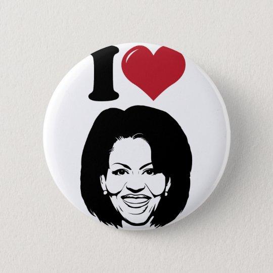 I Love Michelle Obama Pinback Button