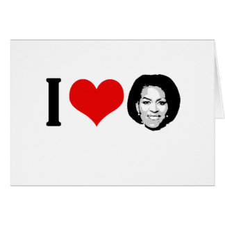 I Love Michelle red plain Greeting Card