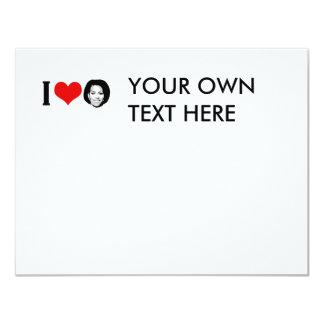 I Love Michelle red plain 4.25x5.5 Paper Invitation Card