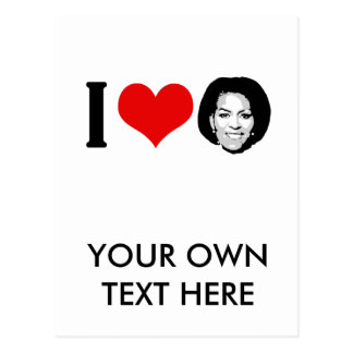 I Love Michelle red plain Postcard
