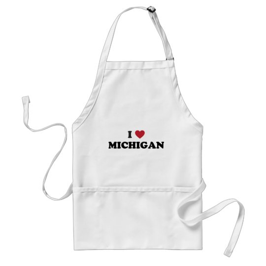 I Love Michigan Adult Apron