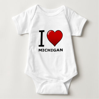 I LOVE MICHIGAN BABY BODYSUIT