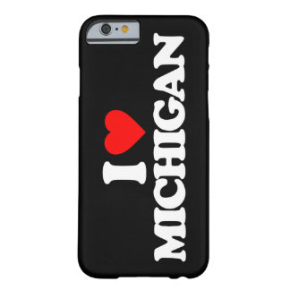 I LOVE MICHIGAN BARELY THERE iPhone 6 CASE