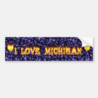 I love michigan bumper sticker