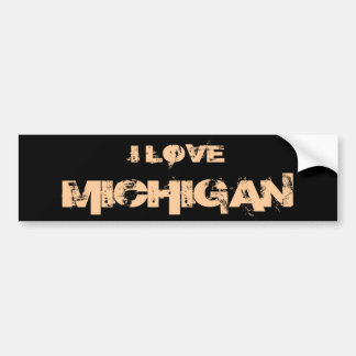 I LOVE MICHIGAN BUMPERSTICKER BUMPER STICKER