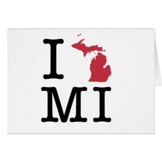I Love Michigan Card