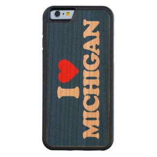 I LOVE MICHIGAN CARVED CHERRY iPhone 6 BUMPER CASE