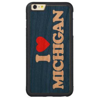 I LOVE MICHIGAN CARVED CHERRY iPhone 6 PLUS BUMPER CASE