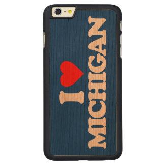 I LOVE MICHIGAN CARVED CHERRY iPhone 6 PLUS CASE