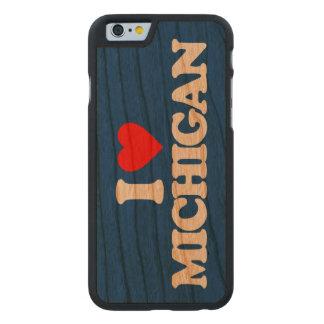 I LOVE MICHIGAN CARVED CHERRY iPhone 6 SLIM CASE