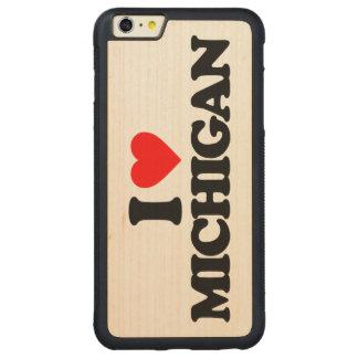 I LOVE MICHIGAN CARVED MAPLE iPhone 6 PLUS BUMPER CASE