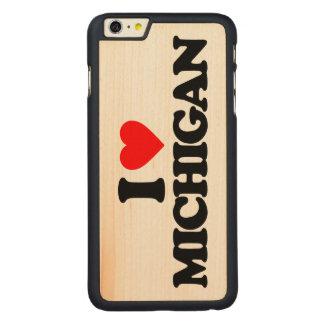 I LOVE MICHIGAN CARVED MAPLE iPhone 6 PLUS SLIM CASE