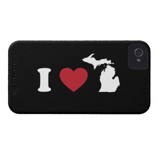 I Love Michigan Blackberry Case