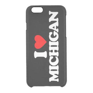 I LOVE MICHIGAN CLEAR iPhone 6/6S CASE