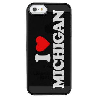 I LOVE MICHIGAN CLEAR iPhone SE/5/5s CASE