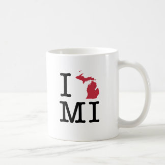I Love Michigan Coffee Mug
