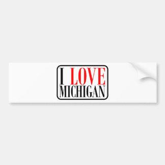 I love Michigan Design Bumper Sticker