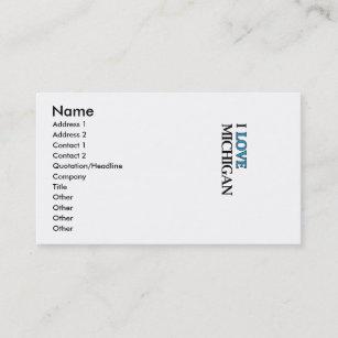Michigan state business cards zazzle i love michigan design business card colourmoves
