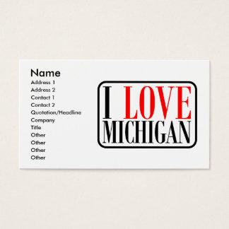 I love Michigan Design Business Card