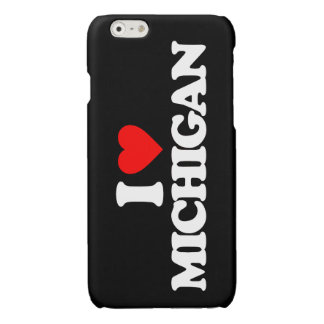 I LOVE MICHIGAN GLOSSY iPhone 6 CASE