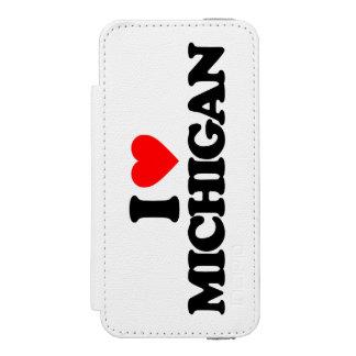 I LOVE MICHIGAN iPhone SE/5/5s WALLET CASE