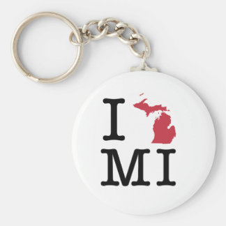 I Love Michigan Keychain